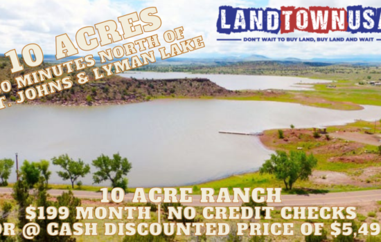 10 Acre Ranch just north of St. Johns!